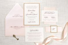 The Darling Suite - Rose Gold Glitter, Blush and Ivory Wedding Invitation and RSVP Card Suite - Elegant, Glam, Formal  For more pictures and information about this invitation suite, visit: http://www.secondcitystationery.com/the-darling-suite.html  PLEASE NOTE: This listing is for the DESIGN DEPOSIT for the Darling Invitation design. Once the design for your invitations has been completed, the cost of the design deposit ($50) will be subtracted from your invitation order total....