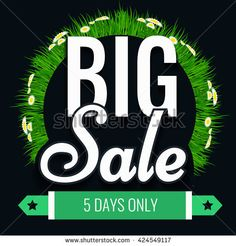 Super creative unique spring and summer Super Big Sale with vintage background and ribbon.  Sale background.  Big sale.  Sale banner.  Vector Sale poster. Special offer tag.  - stock vector
