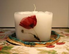 Candle with Poppy seed