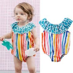 Rainbow Parade Striped Swimsuit from kidspetite.com!  Adorable & affordable baby, toddler & kids clothing. Shop from one of the best providers of children apparel at Kids Petite. FREE Worldwide Shipping to over 230+ countries ✈️  www.kidspetite.com  #swimsuit #beach #baby #newborn #swim #infant #swimwear #girl Baby Girl Swimwear, Hot Dads, Swimsuit Material, Striped Swimsuit, Daddys Little, Baby Newborn, Beach Girls, More Cute, Two Piece Swimsuits