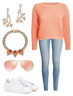 Look Spring Happy by ana-sofia-bts-snsd on Polyvore featuring Pilot, H&M, adidas, Mawi, Erickson Beamon and Ray-Ban