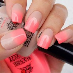 35 Amazing Ombre Nails that You Must Try   LOVIKA #peach #bright