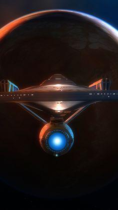 Planet and spacecraft, dark, fantasy, art, wallpaper Star Wars, Star Trek Tv, Star Trek Ships, Sci Fi Fantasy, Dark Fantasy, Nave Enterprise, Star Trek Wallpaper, Star Trek Convention, Sci Fi Spaceships