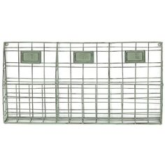 Iron wall rack with 3 storage compartments.  Product: Wall rackConstruction Material: IronColor: Gre...