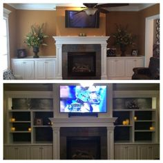 Faux wood panels transform the look of a bookcase. Read how the homeowner did it.