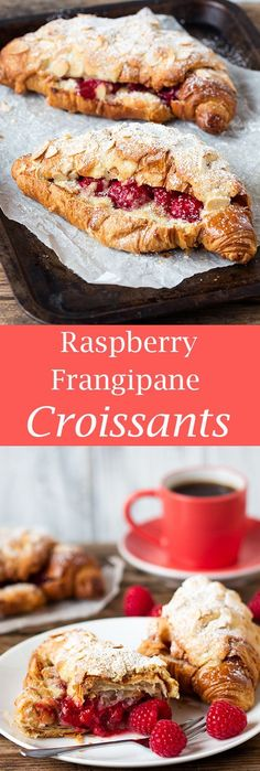 raspberry frangipane stuffed croissants pin