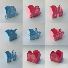 Forminhas Princesa Castelo Coroa Carruagem Sapatinho Festa -