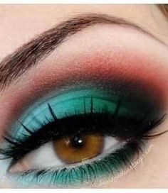 Eye makeup. Interesting color combo