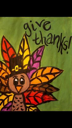 Thanksgiving canvas for CCS | Painting projects | Pinterest