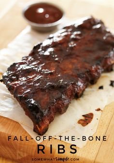 Fall of the Bone Ribs - Simple tips and pictures of the entire process on how to cook ribs!