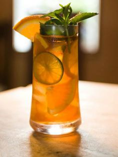 """Check out some of our best """"Sexy  Sippin"""" recipes of 2013!  Bourbon Sweet Tea: 3 c. water ½ c. sugar 2 or 3 black tea bags 1 lemon, sliced into wedges 1 lime, sliced into wedges 1 orange, sliced into wedges 1 cup bourbon  Drink UP!"""