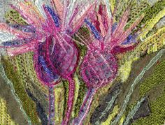 Thistles designs translated into fabric from remnants and offcuts of selvedges from Scottish Tweed Mills