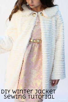 Create a Luxury Fur Coat with this Easy Sewing Tutorial from Stefanie Knaus | Girl's Formal Swing Jacket | Sewing for Kids