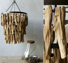 Driftwood Chandelier | Rustic Chandelier  That would be a cool light for a porch or garden area