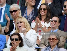 Rebel Wilson and Pippa Middleton attend day one of the Wimbledon Tennis Championships at Wimbledon on June 27, 2016 in London, England.