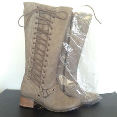 Selling this BRAND NEW Gray/Brown Leather Boots on Poshmark! My username is: tandjscloset51. #shopmycloset #poshmark #fashion #shopping #style #forsale #Colin Stuart #Shoes