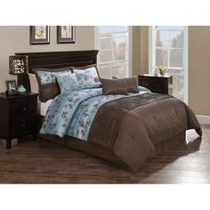 Take a look at this Blue Brown Daniella Comforter Set by Victoria