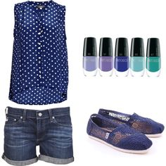 Simple Summer Blues by jessicawhite on Polyvore