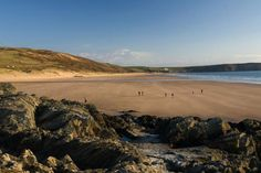 Woolacombe beach, with it's 2 miles of sand is possibly North Devon's premiere beach