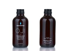Blue Bottle Coffee: Oji — The Dieline - Branding & Packaging Design Beverage Packaging, Coffee Packaging, Bottle Packaging, Brand Packaging, Packaging Design, Branding Design, Bottle Labels, Skincare Packaging, Cosmetic Packaging