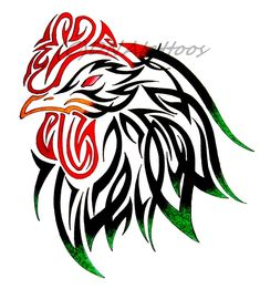 Rooster Tribal by weedenstein on deviantART