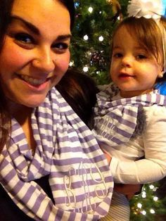Mommy and Me scarf set on Etsy, $28.00