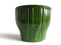 1960's Modernist Green Planter Jasba West by 20thCenturyEurope, €16.50