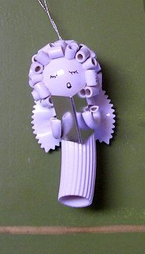 pasta angels ornaments choir girl~ My mother and I both had one of these. Hers crumbled one year. Mine is still intact. <3