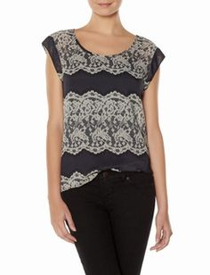 Lace-print layering shirt from The Limited