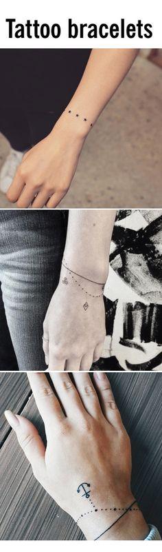The prettiest tattoo bracelet designs