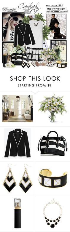 """Be creative in black and white"" by berry1975 ❤ liked on Polyvore featuring Pottery Barn, Manhasset, Moschino, Yves Saint Laurent, Truth or Dare, Burberry, Rebecca Minkoff, HUGO, MOOD and Kate Spade"