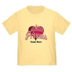 Cafepress Personalized Princess 4th Birthday Toddler T-Shirt, Toddler Girl's, Size: 3 Years, Yellow