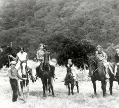 Fred Solomon hosted outings for the orphans of Los Angeles at his Topanga ranch. This is probably a photograph of children on one such outing in the 1920's. San Fernando Valley History Digital Library.