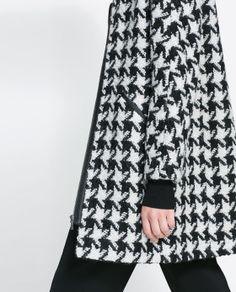 Image 5 of HOUNDSTOOTH COAT from Zara