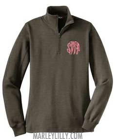 Monogrammed Charcoal Heather Pullover Sweatshirt I want this so bad!