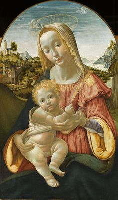 Davide Ghirlandaio (Florence, 1452 – id., 1525), La Vierge et l'Enfant. Chantilly, musée Condé © RMN-Grand Palais (domaine de Chantilly) / Franck Raux