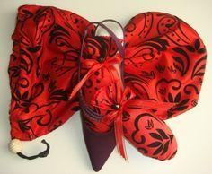 Black on Red ShooBag/ShooStuffer Set by shoesies4u on Etsy, $23.00