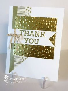 Golden Thank you card from Flowerbug's Inkspot