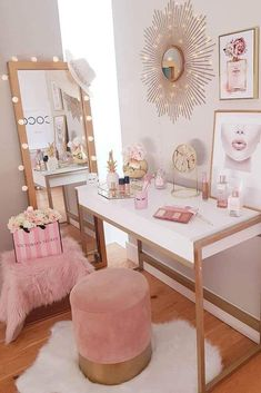 Modern White Makeup Table Design With Light Mirror ★ A makeup vanity table is not just a piece of furniture; it's the nook of worshipping your beauty! Therefore, it should be designed not only comfily but also stylishly. Here, we've collected the