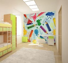 wall Murals Fun - Wall Murals for Kids School eu® Kids Wall Murals, Murals For Kids, Mural Art, Art Wall Kids, School Hallways, School Murals, Classroom Walls, Classroom Decor, Kindergarten Design