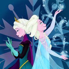 Frozen- Elsa the Snow Queen Disney Kunst, Arte Disney, Disney Magic, Disney Art, Disney Films, Disney And Dreamworks, Disney Pixar, Disney Characters, Snow Queen