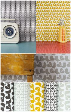 Rachel Powell's wallpaper designs