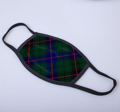 non medical face covering with Davidson printed tartan - only from ScotClans