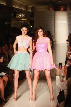 Evening Sherri Hill - Front Row - Spring 2013 (Kendall and Kylie Jenner)
