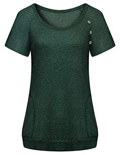 Summer Tunics, Summer Tops, Work Casual, Work Fashion, Cute Tops, Gd, Crew Neck, Tunic Tops, Blouses