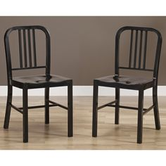 Black Metal Side Chairs (Set of 2) - Overstock™ Shopping - Great Deals on Dining Chairs