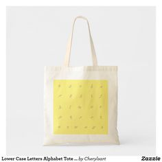 Lower Case outline Letters Alphabet Tote Bags, by CherylsArt on Zazzle. #alphabet  #totebags #literacy #bookbag