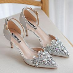 Glitter Wedding, Wedding Heels, Ankle Strap Shoes, Strap Heels, Bridal Clutch Bag, Silver Outfits, Black Luxury, Bridal Shoes, 12 Days
