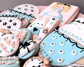 Alice in Wonderland Tea Party Decorated Cookies- 17 Cookies. $42.00, via Etsy.
