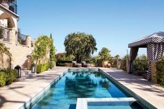 Modern Pool by Martyn Lawrence Bullard Design in Los Angeles, CA